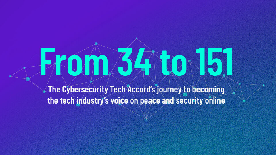 Cybersecurity Tech Accord Celebrates over 150 Signatories