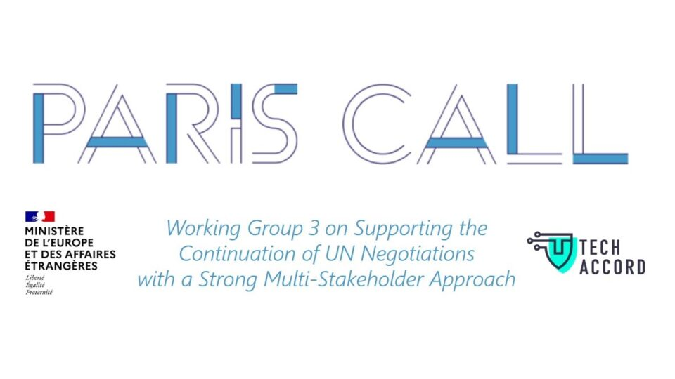 Paris Call: Identifying new ways for multi-stakeholder cooperation